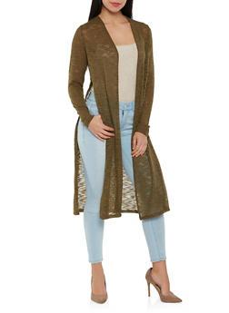 Side Slit Knit Duster - 1308054268064