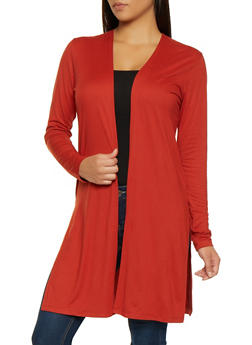 Long Sleeve Soft Knit Duster - 1308058751812