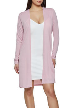 Textured Knit Duster - 1308058754342
