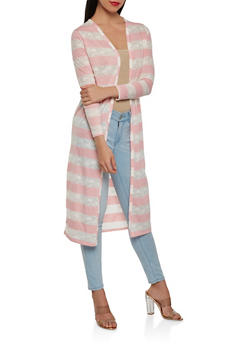 Open Front Duster - CORAL - 1308074292124