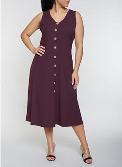 Plus Size Purple Dress