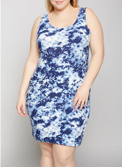 Plus Size Tie Dye Tank Dress | 1390038349084 - 1390038349084