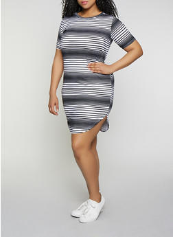 50e5a7774bfc Plus Size Striped T Shirt Dress | 1390038349463 - 1390038349463