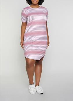 bd1e0cda Plus Size Striped T Shirt Dress | 1390038349463 - 1390038349463