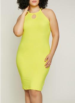 Plus Size Womens Knit Tank Dress