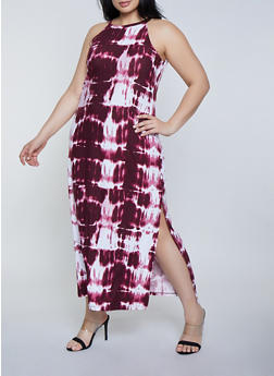 Plus Size Tie Dye Tank Maxi Dress | 1390038349924 - 1390038349924