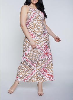 Plus Size Printed Maxi Dress | 1390038349927 - 1390038349927