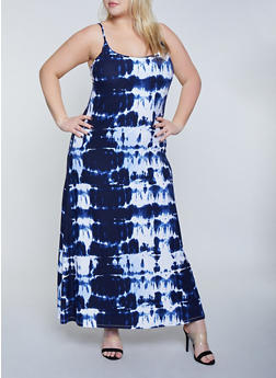 Plus Size Tie Dye Tank Cami Dress | 1390038349930 - 1390038349930