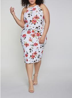 Plus Size Floral Midi Tank Dress | 1390051060946 - 1390051060946