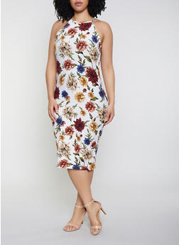 b4ad5b53ab0 Plus Size Soft Knit Tank Midi Dress - 1390051061946
