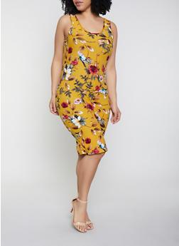 Plus Size Floral Tank Dress | 1390051063947 - 1390051063947