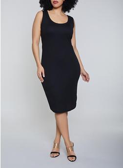 Black 1X Midi Dresses