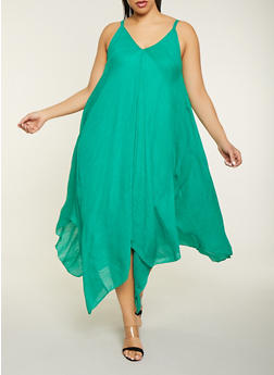 Plus Size Maxi Asymmetrical Dress - 1390056121665