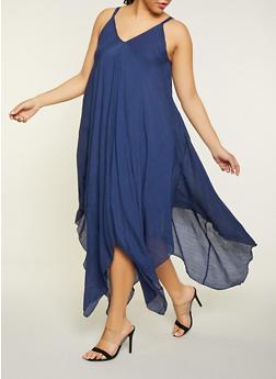 Plus Size Blue Maxi Dress