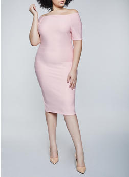 Plus Size Bandage Short Sleeve Dress - 1390058750650
