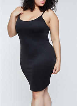 Plus Size Scuba Knit Cami Dress - 1390058750963