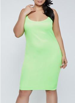 Plus Size Scuba Knit Cami Dress - 1390058750963