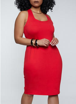 Plus Size Midi Ponte Tank Dress - 1390058751080