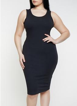 Plus Size Solid Tank Dress | 1390058752790 - 1390058752790