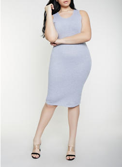 Plus Size Solid Tank Dress | 1390058752790 - 1390058752790