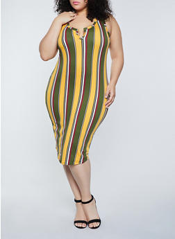 Plus Size Racerback Tank Dress - 1390058755970