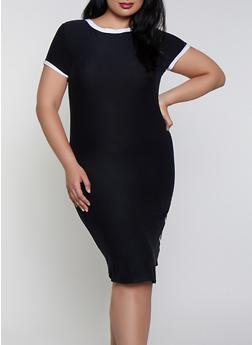 Black 2X T-Shirt Dresses
