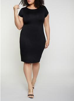 Plus Size Bodycon T Shirt Dress - 1390074281176