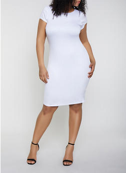 Plus Size White T-Shirt Dress