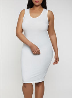 Plus Size Solid Tank Dress | 1390074282511 - 1390074282511