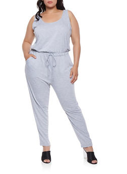 Plus Size Sleeveless Jumpsuit - 1392054260450