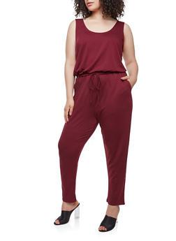 Plus Size Sleeveless Jumpsuit - 1392054260450