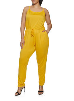 b8e951ff0cbd Plus Size French Terry Lined Jumpsuit - 1392054265786