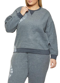 Plus Size Fleece Sweatshirt - 1393075175586