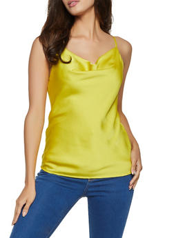 Cowl Neck Satin Cami - 1401068197569