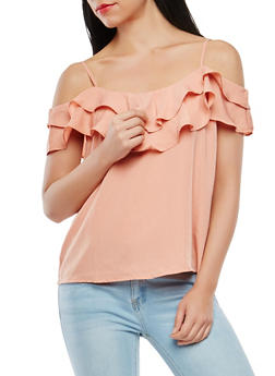 Off the Shoulder Ruffle Top - 1401069391383