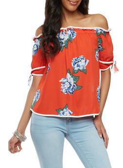 Floral Off the Shoulder Top - 1401069399722