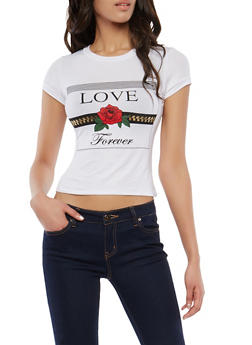 Love Forever Graphic T Shirt - 1402061350467
