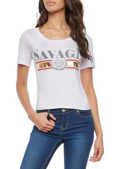 Savage Graphic T Shirt - 1402061350545