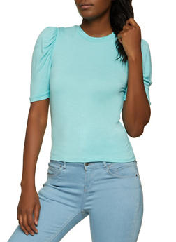 Ruched Short Sleeve Top - 1402061351365