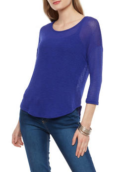 Three Quarter Sleeve Sweater - 1402061358340