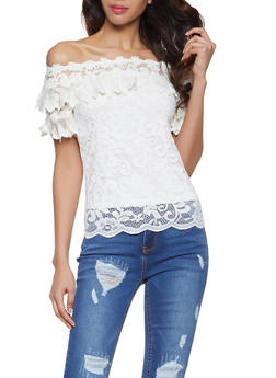 Crochet Off the Shoulder Top - 1402062702405