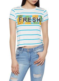 Fresh Striped Tee - 1402062702689