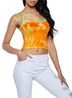Soft Knit Tie Dye Tank Top - 1402066490817