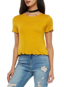 Ripple Hem T Shirt - 1402066491974