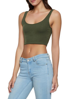 Cropped Tank Top - 1402066494655