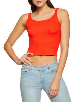 Rib Knit Cropped Tank Top | 1402066495276 - 1402066495276