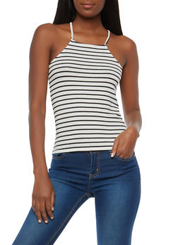 Striped Tank Top - 1402066496608
