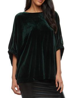 Velvet Dolman Sleeve Top - 1402068192236