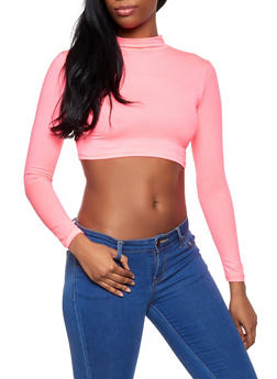 Soft Knit Neon Crop Top - 1402068515213
