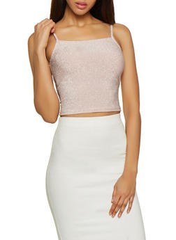 Shimmer Knit Cropped Cami - 1402069390583